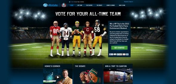 Allstate Pro Football Hall of Fame All-Time Team Sweepstakes