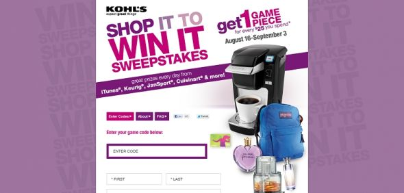 kohls.com/shopittowinit – Kohl's Shop It to Win It Instant Win Game & Sweepstakes