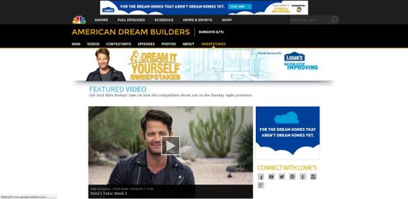 www.NBC.com/lowes – Lowe's Dream It Yourself Sweepstakes