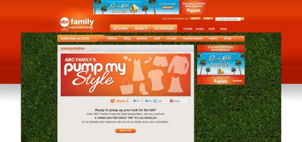 ABC Familys Pump My Style Sweepstakes
