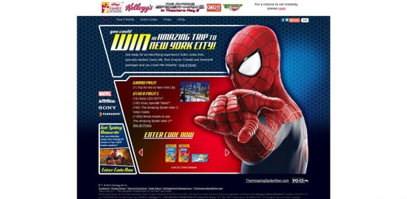 www.kelloggsfamilyrewards.com/Spiderman2 – Kellogg's THE AMAZING SPIDER-MAN 2 Instant Win Game