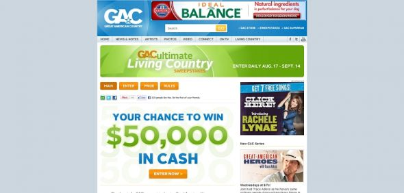 GAC's Ultimate Living Country Sweepstakes
