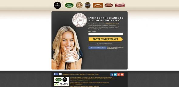 Green Mountain Coffee Perfect K-Cup Sweepstakes