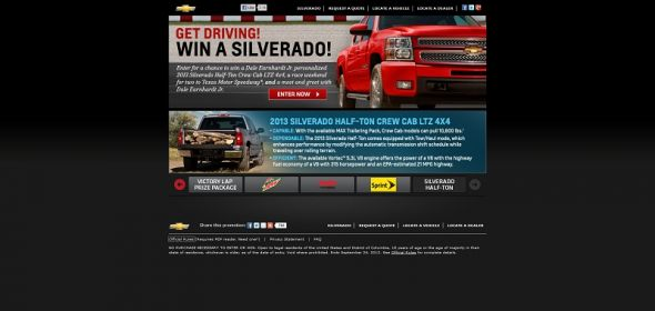 winyourchevy.com – Get Driving! Win a Silverado! Sweepstakes
