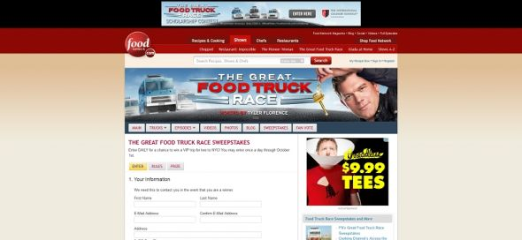 Great Food Truck Race Sweepstakes