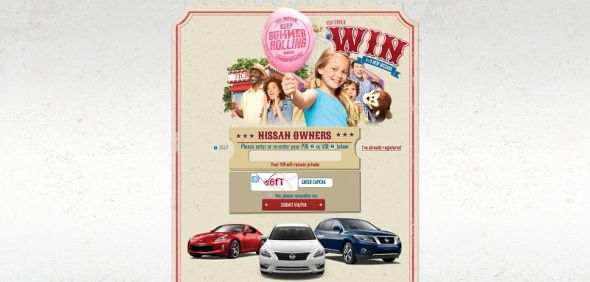 Nissan Keep Summer Rolling Instant Win and Sweepstakes