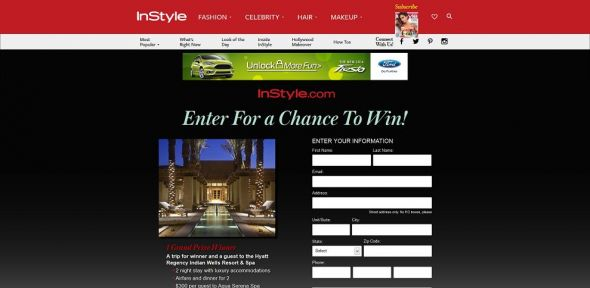 instyle.com/refreshed – InStyle.com Luxury Spa Sweepstakes