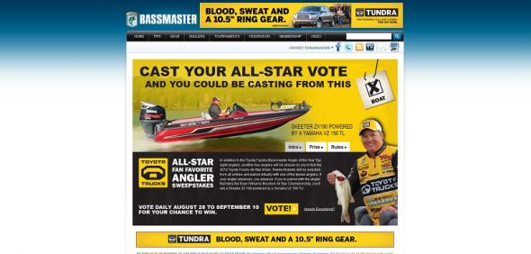 Toyota Trucks All-Star Fan Favorite Angler Sweepstakes