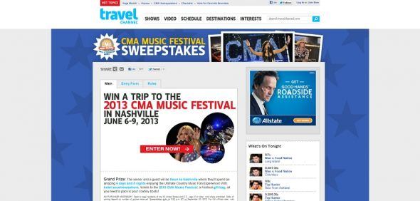 Win a Trip to the 2013 CMA Music Festival Sweepstakes