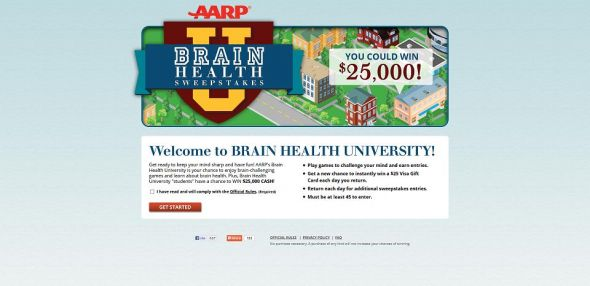 AARP Brain Health University Sweepstakes