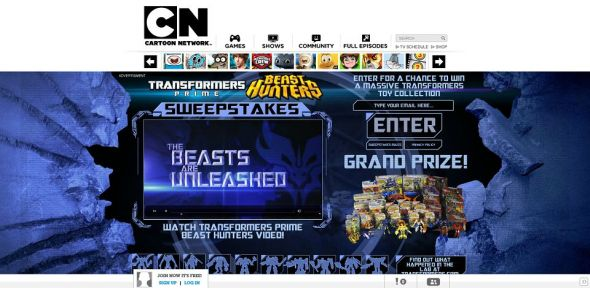 TRANSFORMERS BEAST HUNTERS Sweepstakes