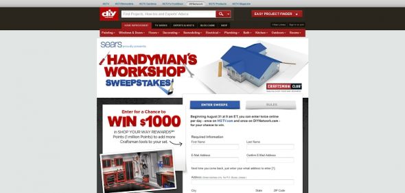 DIY Handyman's Workshop Sweepstakes