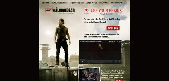 AMCGiveBlood.com – AMC's The Walking Dead Give Blood Sweepstakes
