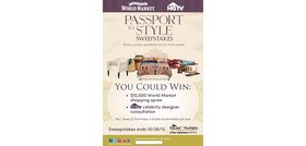 World Market and HGTV Passport to Style Sweepstakes