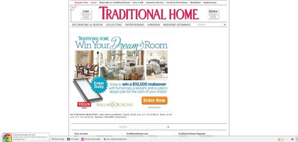 Traditional Home Dream Room Sweepstakes