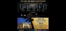 livelikebondsweeps.com – Live Like Bond Sweepstakes