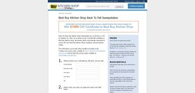 Best Buy Kitchen Shop Back to Fall Sweepstakes