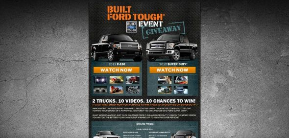 2012 Built Ford Tough Giveaway