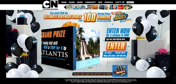 cartoonnetwork.com/hotwheels – Mattel Hot Wheels & Cartoon Network 20th Birthday Sweepstakes