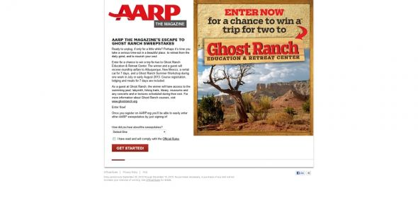 AARP The Magazine's Road Trip Sweepstakes