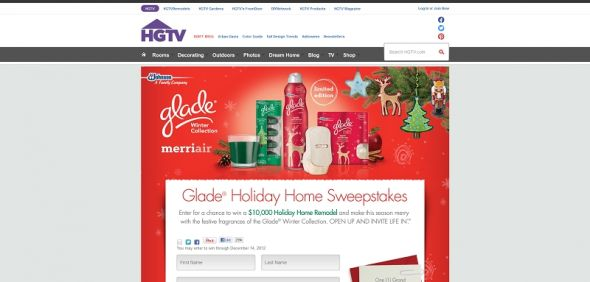 HGTV Holiday Home Sweepstakes