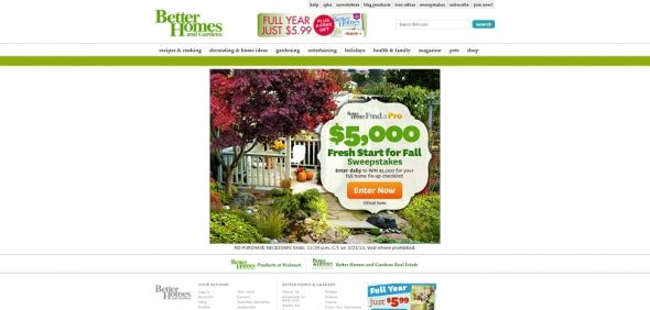 Better Homes and Gardens Find a Pro Sweepstakes