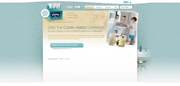 kleenex.com/HandTowels – Kleenex Hand Towels Clean Hands Campaign Sweepstakes