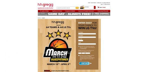 March into h.h. gregg Sweepstakes