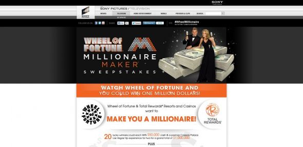 wheeloffortune.com/millionairemaker – Wheel of Fortune Millionaire Maker Sweepstakes