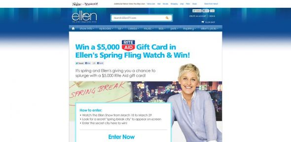 ellentv.com/haveyoutriedthisyet – Ellen's Spring Fling Watch and Win Contest
