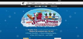 Wheel of Fortune Sears Secret Santa SPIN ID Sweepstakes