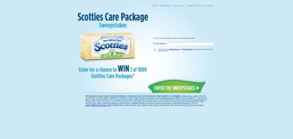 Scotties Care Package Sweepstakes