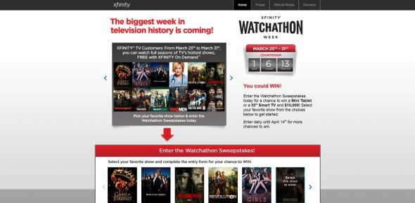 XFINITY Watchathon Sweepstakes