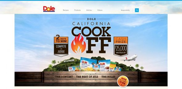 DOLE California Cook-Off Recipe Contest and Fan Sweepstakes