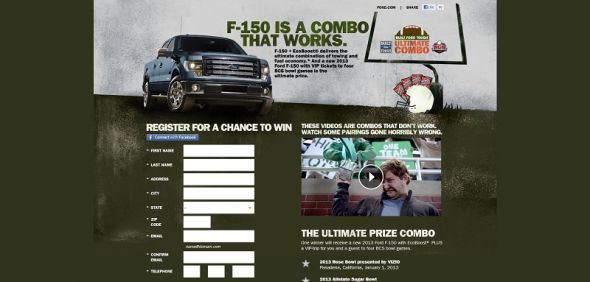 Ford F-150 BCS Ultimate Combo Promotion