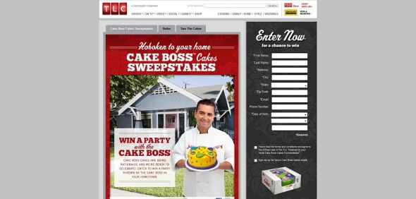 cakebossiscomin.com – TLC Hoboken To Your Home Cake Boss Cakes Sweepstakes
