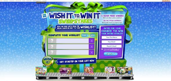 nick.com/wishlist – Wish It To Win It Sweepstakes