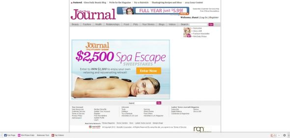 Ladies Home Journal Spa Escape Sweepstakes