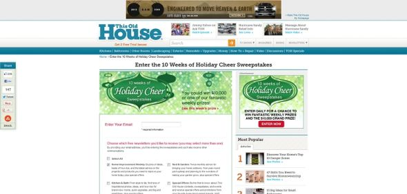 10 Weeks of Holiday Cheer Sweepstakes