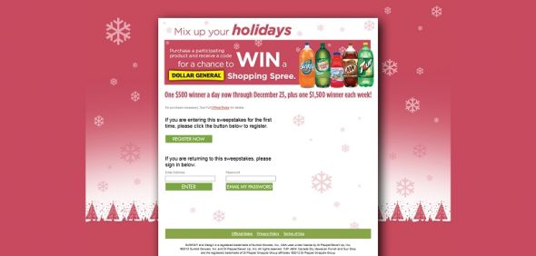 7upwins.com – 2012 7UP Canada Dry Holiday Sweepstakes