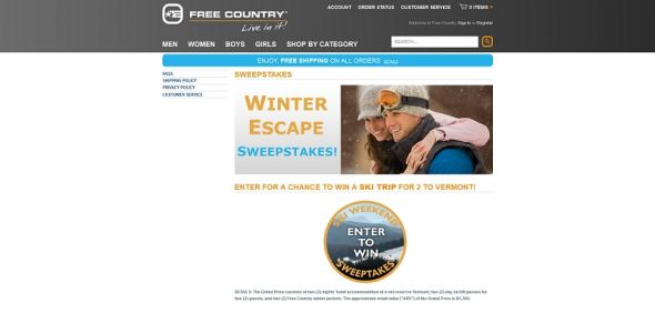 Time Warner Cable NYC Free Country Sweepstakes
