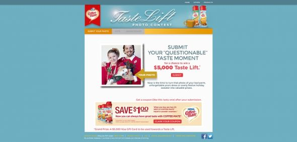 Coffee-Mate Taste Lift Contest