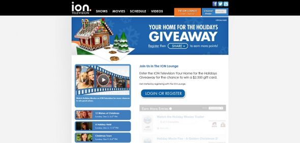 ION Television's Your Home for the Holidays Giveaway