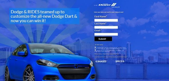 RIDES Customized Dodge Dart Sweepstakes