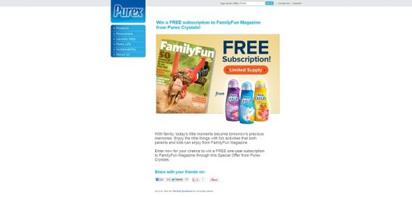 Purex FamilyFun Sweepstakes