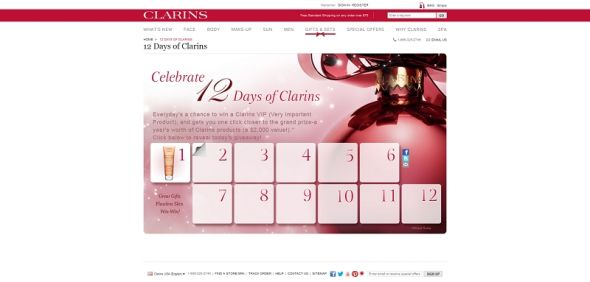 Clarins.com Daily Giveaway