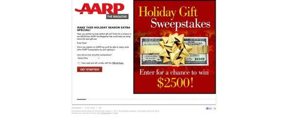AARP The Magazine's Holiday Gift Sweepstakes