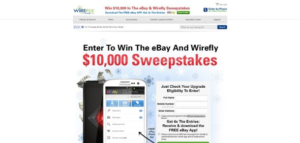 eBay and Wirefly Sweepstakes