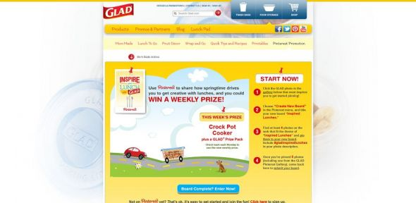 Inspire Your Lunch with Glad Sweepstakes