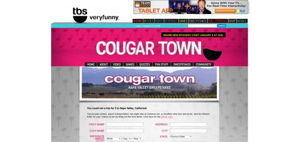 Cougar Town TBS Napa Valley Sweepstakes